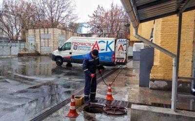 Прочистка трубопровода канализации