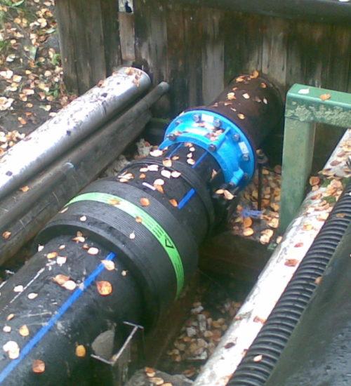 Монтаж напірної каналізації