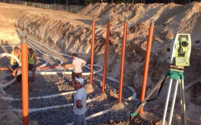 Монтаж наружной канализации и дренажного поля