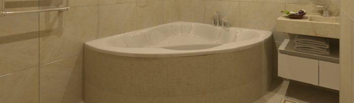 Встановлення кутовий ванни