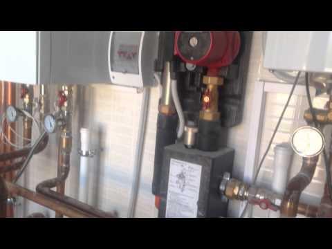 Монтаж твердотопливного котла отопления
